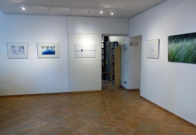 """Ausstellungsansicht I, """"Auflösung"""", Kunstraum PRIMOBUCH, Berlin"""