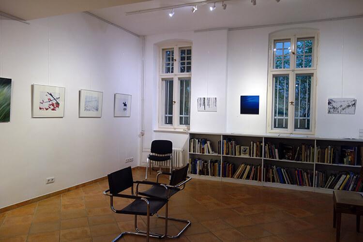 """Ausstellungsansicht II,  """"Auflösung"""", Kunstraum PRIMOBUCH, Berlin"""