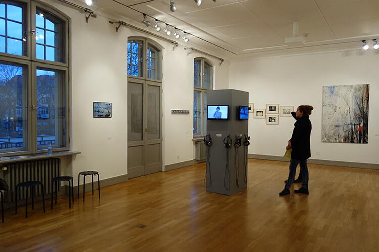 """Ausstellungsansicht II, """"Vom Vergehen"""", Galerie Schwartzsche Villa, Berlin"""