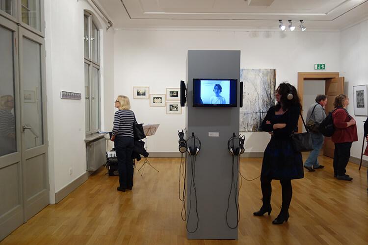 """Ausstellungsansicht I, """"Vom Vergehen"""", Galerie Schwartzsche Villa, Berlin"""